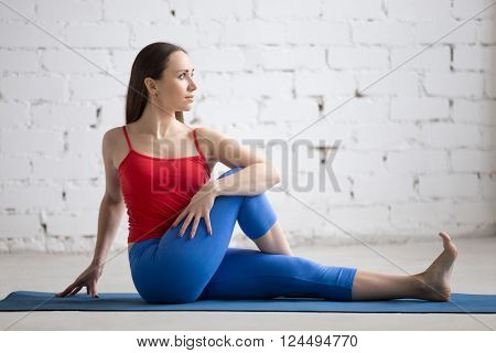 Yoga Indoors: Half Lord Of The Fishes Pose