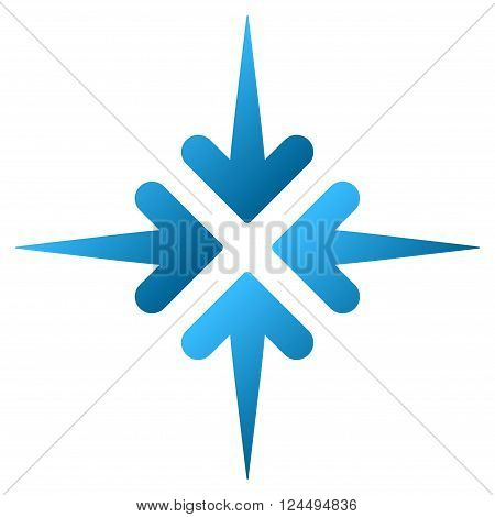 Impact Arrows vector toolbar icon for software design. Style is a gradient icon symbol on a white background.