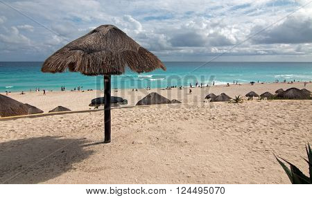 Playa Delfines Public Beach At Cancun Mexico