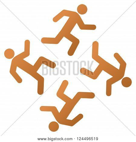 Running Men vector toolbar icon for software design. Style is a gradient icon symbol on a white background.