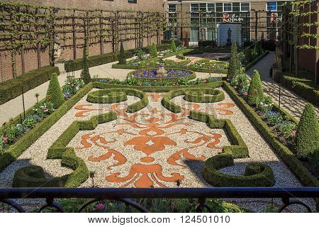 Amsterdam, Netherlands - May 5: This is part of the museum exposition of Museum Willer-Holthuysen - the garden end of the XVIII early XIX century May 5, 2015 in Amsterdam Netherlands.