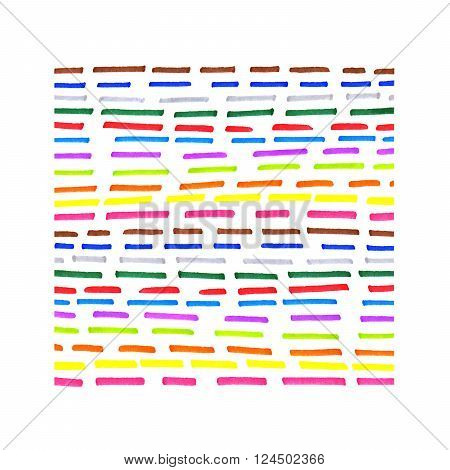 Colorful dotted line pattern on white background