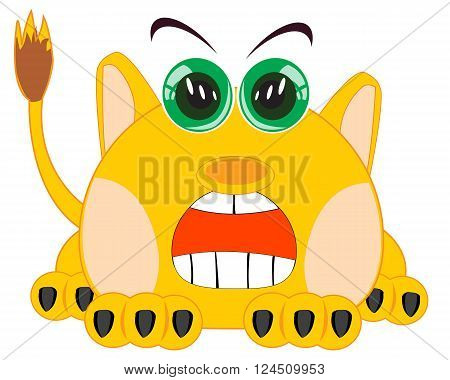 Vector illustration unknown animal on white background is insulated
