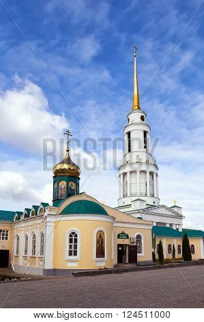 Zadonsk, Russia - October 9, 2015: Nativity of the Virgin Monastery. Zadonsk Nativity of Our Lady Convent was founded by two elders-Schimonks Cyril and Gerasim, came from Moscow Sretensky Monastery