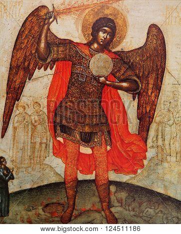 Byzantine Icon In Transfiguration Monastery, Iaroslavl, Russia