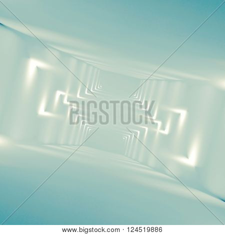 Abstract Empty Interior Background 3D Pattern