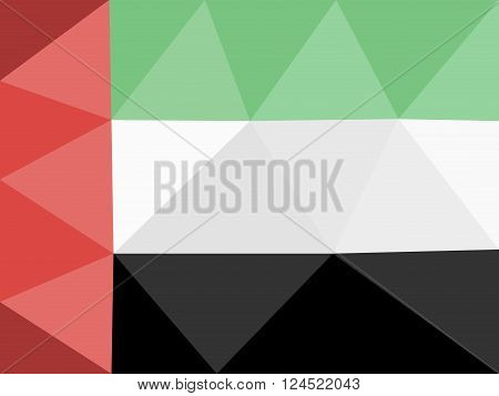 United Arab Emirates low poly flag in EPS 8 format.