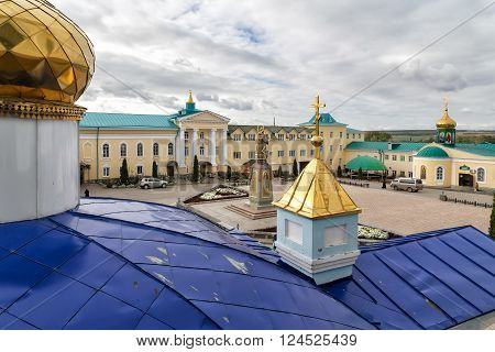 Zadonsk, Russia - October 9, 2015: Nativity of the Virgin Monastery. Zadonsk Nativity of Our Lady Convent was founded by two elders-Schimonks Cyril and Gerasim