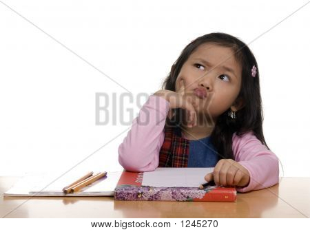 Young Girl Writing 5