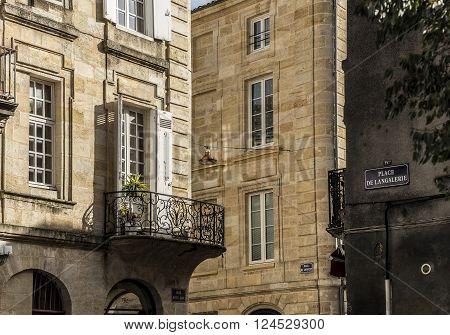 Place de Langalerie square of Bordeaux Aquitaine. France.