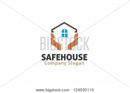 Safe House Creative And Symbolic Logo Design Illustration
