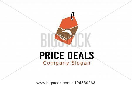 Price Deals Creative And Symbolic Logo Design Illustration