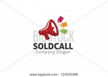 Sold Call Creative And Symbolic Logo Design Illustration