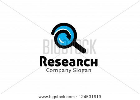 Magnifying Search Creative And Symbolic Logo Design Illustration