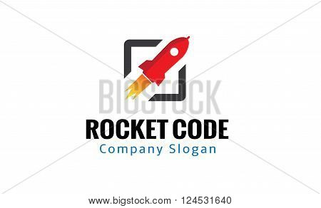 Rocket Code Creative And Symbolic Logo Design Illustration