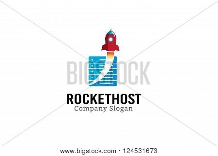 Rocket Host Creative And Symbolic Logo Design Illustration