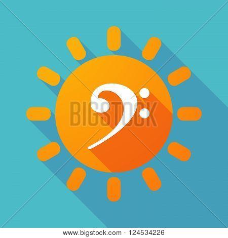 Long Shadow Sun With An F Clef