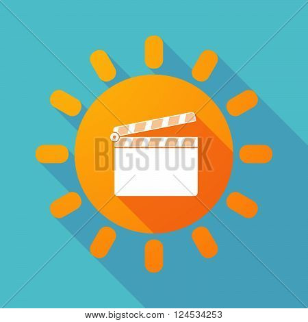 Long Shadow Sun With A Clapperboard