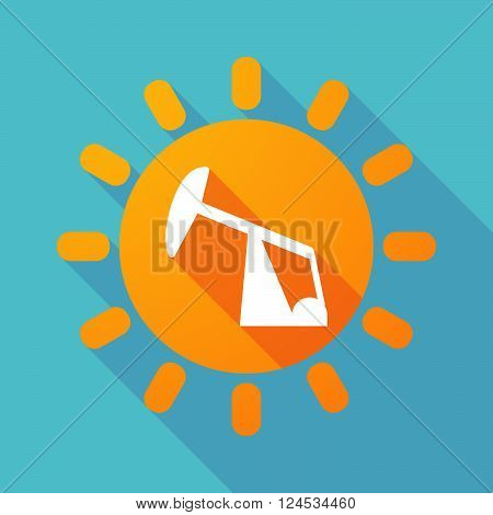 Long Shadow Sun With A Horsehead Pump
