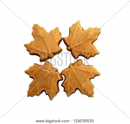 Four sweet and tasty  Maple Sugar Candies ** Note: Soft Focus at 100%, best at smaller sizes