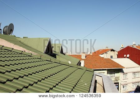 The roofs of the old town of Istanbul