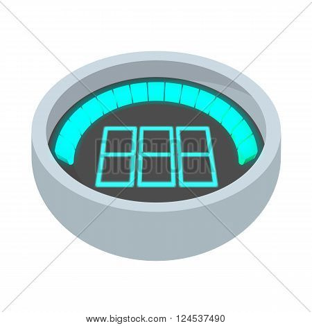 Dashboard indicator icon in cartoon style isolated on white background