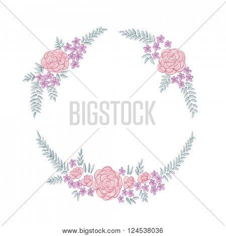 Floral ring frame