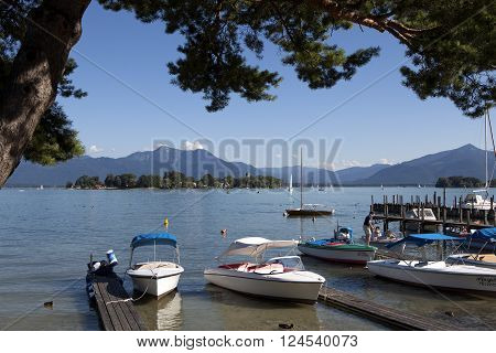 Lake Chiemsee in Bavaria, Germany in summertime