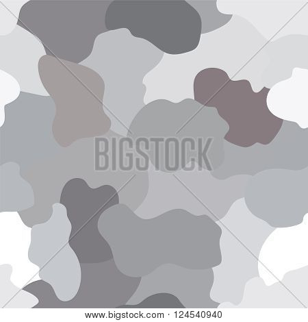 Illustrated grey and black camouflage background with a seamless design
