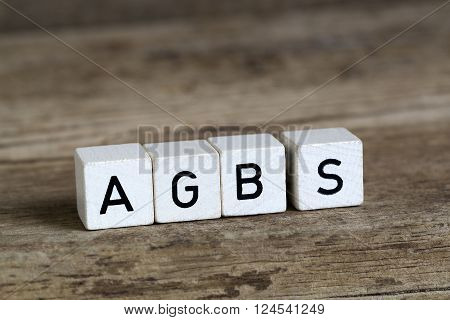 The German Word Agbs Written In Cubes