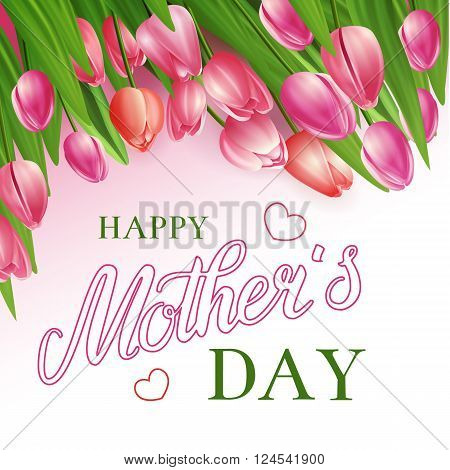 Happy Mothers Day. Vector Background May Be Used As Greeting Card For Your Mum