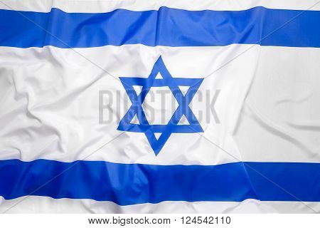 National flag of Israel as a background