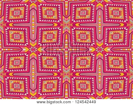 Background Tribal Monogram Aztec Texture Colorful 1