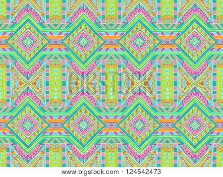 Background Tribal Monogram Colorful Aztec Texture 1
