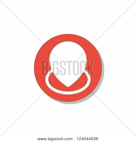 Location Icon In Vector Format. Premium Quality Location Icon. Web Graphic Location Icon Sign On Red