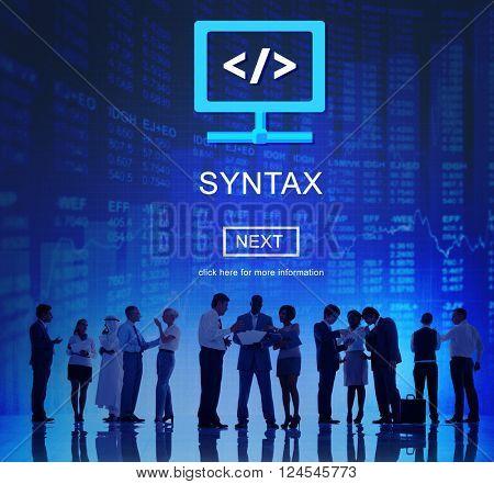 Syntax Complex Development Software Program Concept