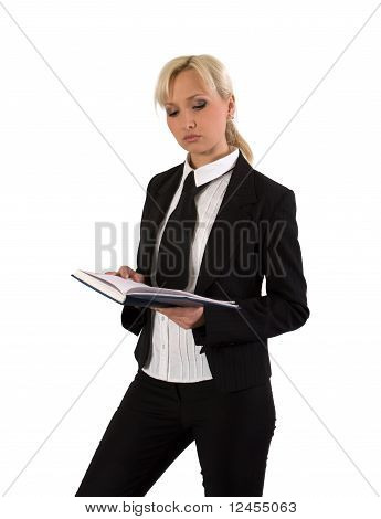 Female With Notebook.