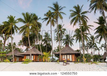 Resorts In Island Beside The Sea Beach