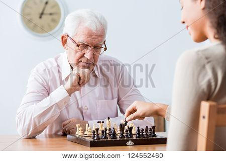 Intergenerational Duel At Chess