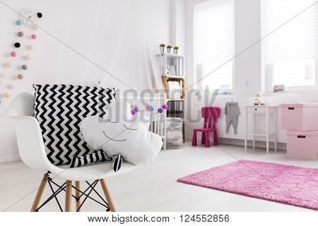 Shot of a spacious modern baby room