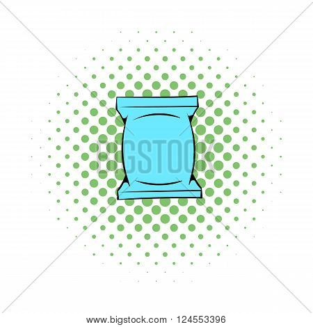 Wet wipes package icon in comics style on a white background
