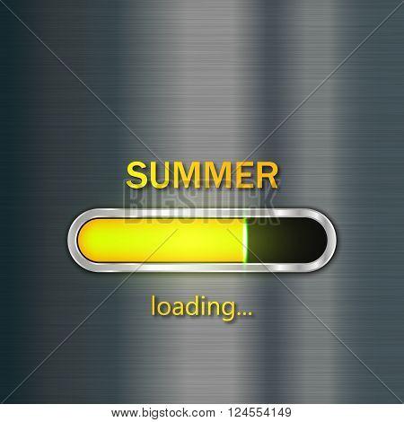 Summer loading, Vector progress loading bar, EPS10