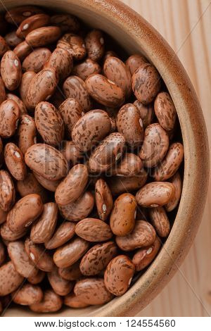 Pinto Beans a popular bean in the United States and northwestern Mexico and used in refried beans