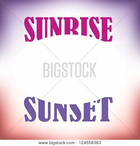 Sunrise sunset artwork with space for text