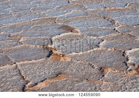 Salt, environment erosion problem, dry salty field texture background