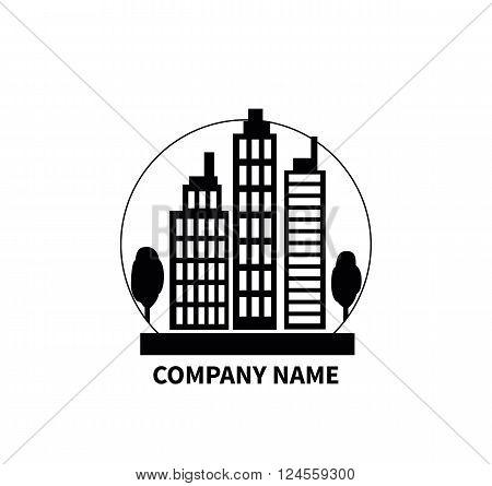 building logo sign design flat company name construction