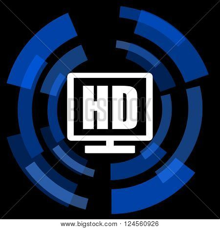 hd display black background simple web icon