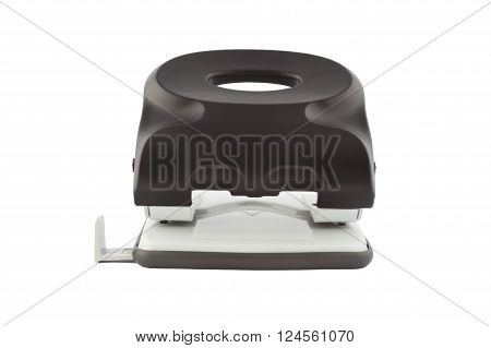 Black hole puncher isolated on white background