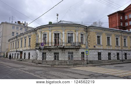 MOSCOW, RUSSIA - MARCH 18, 2016: City manor Venediktov - Shnaubertov - B. Sh Monoszon Kolpachny lane 14/5 building 1 an architectural monument 18-19 century