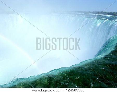 View of the Canadian Niagara Falls in spring 4 May 2003 Canada